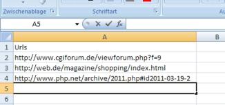 Beispil für CSV-Datei