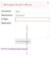 Screenshot vom Script Kontakt Formular Script