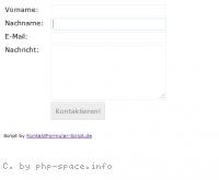 Screenshot Kontakt Formular Script
