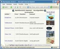 Screenshot marktListe anzeigen